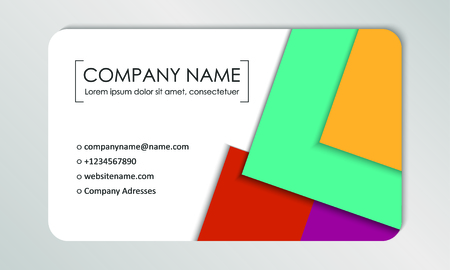Modern business card template. Business cards with company logo. Abstract colorful flat design. Vector illustration Foto de archivo - 130059797