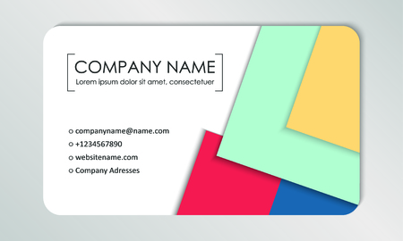 Modern business card template. Business cards with company logo. Abstract colorful flat design. Branding identification. Vector illustration Foto de archivo - 130059798