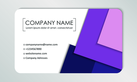 Modern business card template. Business cards with company logo. Abstract violet flat design. Vector illustration Banque d'images - 130059800