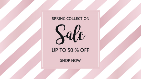 Sale. Vector sale striped background. Sale banner template - take up to 50% off. Shop now