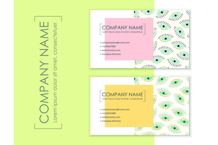 Corporate identity templates with modern abstract background. Vector illustration