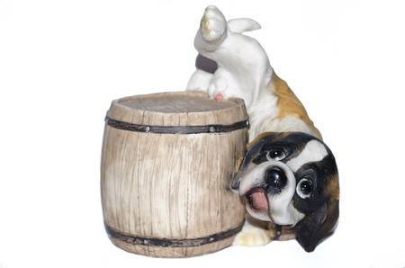 fanny: Fanny Ceramic Dog. Isolate On White Background
