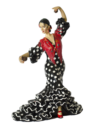souvenir traditional: BARCELONA Traditional souvenir from Barcelona: the figures of dancing girls in traditional Spanish national dresses. Stock Photo