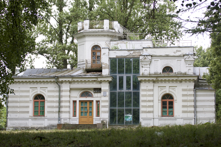 dacha: Manor Belaya Dacha, Minsk, Belarus. An architectural monument of the second half of the 19th century. Stock Photo