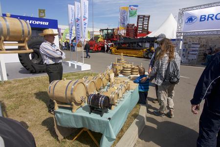 MINSK, MINSKAYABELARUS - 08 JUNE 2017: 27th International Specialized Exhibition BELAGRO - 2017 and the International Specialized Exhibition BELFERMA - 2017. Agrarian international forum