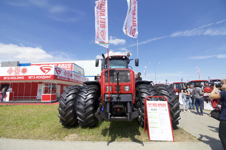 MINSK, MINSKAYABELARUS - 08 JUNE 2017: 27th International Specialized Exhibition BELAGRO - 2017 and the International Specialized Exhibition BELFERMA - 2017. Agrarian international forum