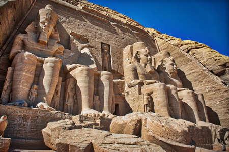 Famous Ramses II UNESCO Abu Simbel Stockfoto