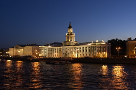 View of the River Neva  in St  Petersburg, Russia photo