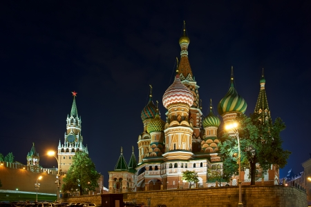 Moscow Kremlin and St  Basil photo