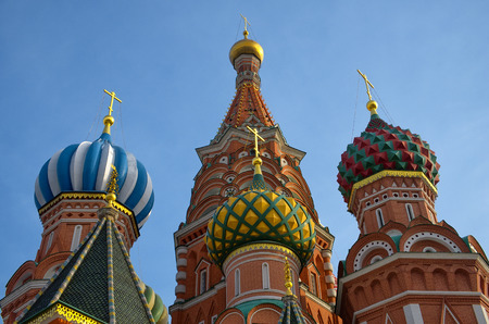 A view of the St. Basils Cathedral, Russia, Moscow Stock fotó