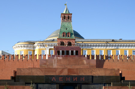 The Mausoleum of Lenin and Kremlin wall on Red Square, Moscow