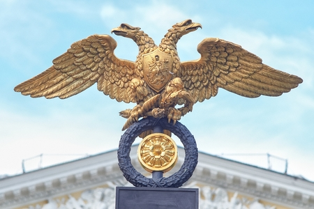 traditionally russian: Russia  double-headed eagle