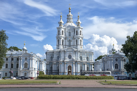 Smolny Cathedral, St. Petersburg Stock fotó