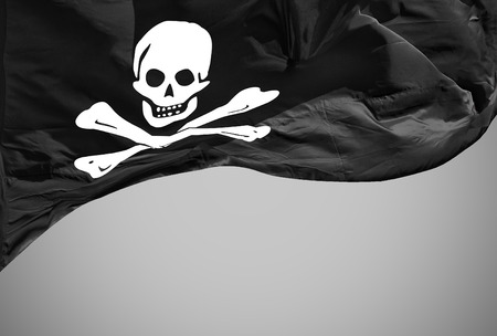 drapeau pirate: drapeau Jolly Roger isolé