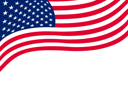 usa: US flag isolated on white background Stock Photo