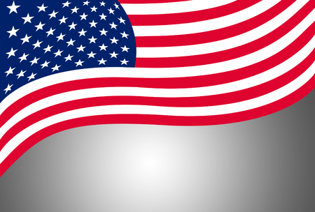the flag of usa, isolated on black background