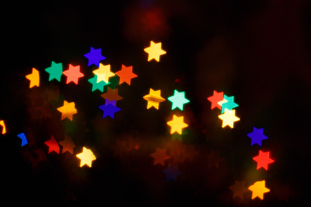 Multicolored bokeh abstract for the holiday Hanukkah photo