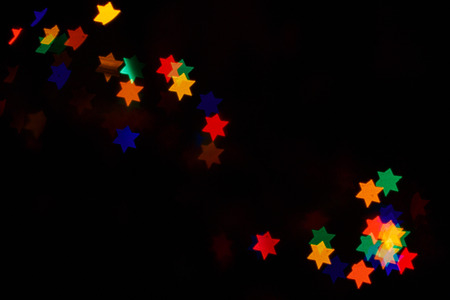 judah: Multicolored bokeh abstract background for the holiday Hanukkah Stock Photo