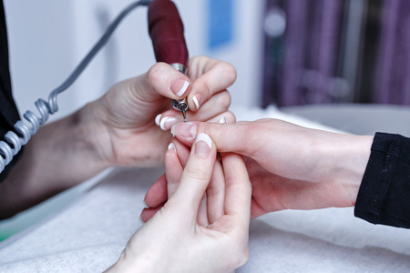 Treatment side bolsters and cuticle area apparatus shot closeup photo