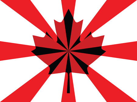 Flag of Canada Day background Vector
