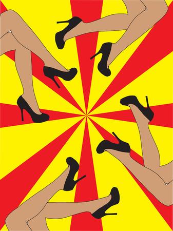 piernas de mujer: Piernas de mujer con zapatos aislados en el fondo blanco