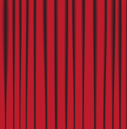 background theater curtain with pleats made %u200B%u200Bmesh Vector