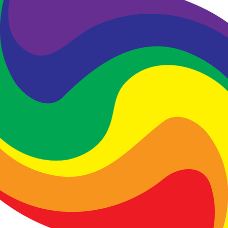 Rainbow symbol of same-sex relationships and free love Vector