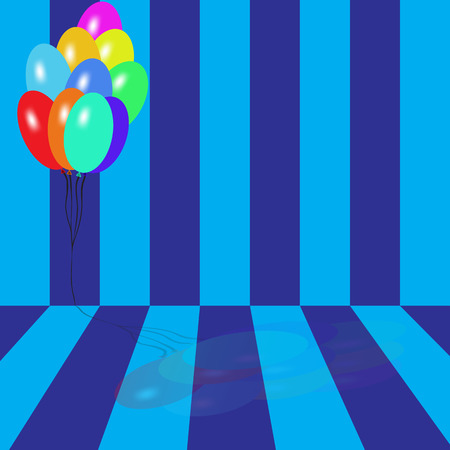 Bright multicolored balloons vector background for holidays and birthdays Vector