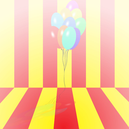 Bright multicolored balloons vector background for holidays and birthdays Illustration