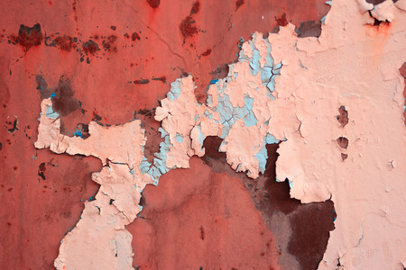 breakaway: Grungy wall texture with paint and scuffed breakaway shot close-up, color tinting Stock Photo