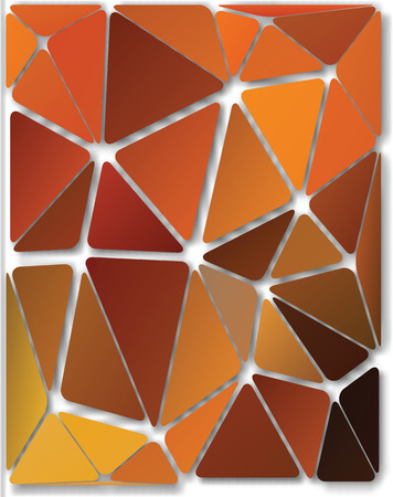 Abstract colorful autumn background of the set of triangles