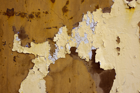 scuffed: Grungy wall texture with paint and scuffed breakaway shot close-up, color tinting Stock Photo