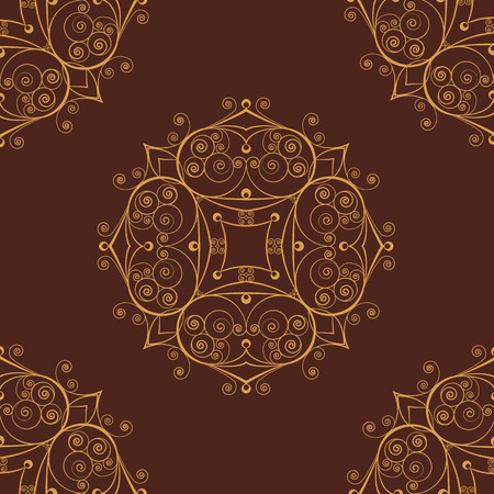 Retro vector pattern in the Baroque style Vector