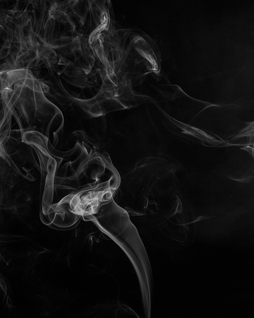 blue smoke: Abstract smoke moves on a black background Stock Photo