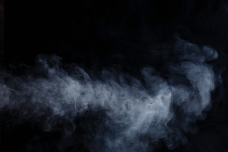 Abstract smoke moves on a black background Stock Photo