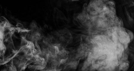 toxins: Abstract smoke moves on a black background Stock Photo