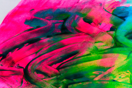 Abstract background drawn by oil paints and brushes close-up shot Stock Photo