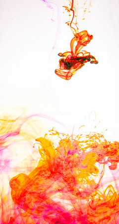 aqueous: Colored inks create abstract forms in aqueous solution