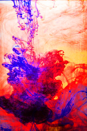 aqueous: The abstract motion of colored inks in an aqueous solution