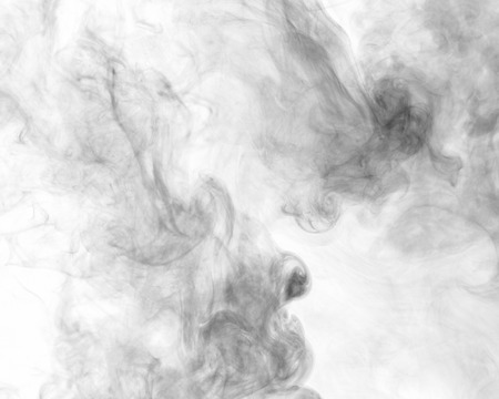 toxins: Abstract smoke moves on a white background Stock Photo