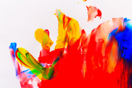 pictured: Brush strokes. Varicolored abstract background drawn by oil paints