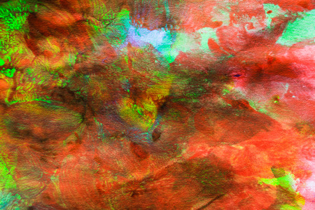 Colorful abstract oil painting on canvas is made by hand photo