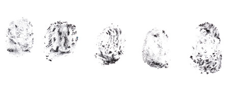 scuff: Fingerprints black charcoal pencil. Design elements on a white background.