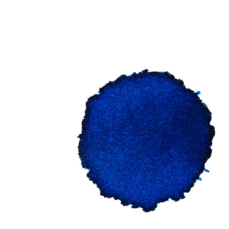 ink stain: Color blue ink stain on a white background. Elements of graphic design. Art abstract.