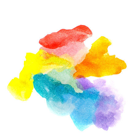 Rainbow abstract watercolors. Colorful background. Design elements. Red, orange, yellow, green, blue, purple paint. Colorful spectrum. photo