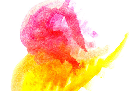 yellow paint: Rainbow abstract watercolors. Colorful background. Design elements. Magenta yellow paint. Colorful spectrum.