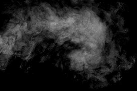 A vapore astratto su uno sfondo nero. Struttura. Elemento di design. Arte astratta. Il vapore dal ferro. le riprese macro. Archivio Fotografico - 43891130