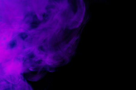 morado: Abstract purple hookah smoke on a black background. Photographed using a gel filter. The concept of of unhealthy.