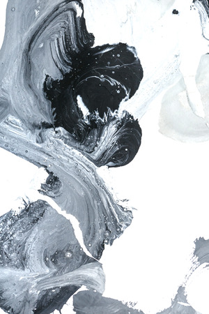 finger paint: Black and gray abstract watercolors design. Childrens drawing. Finger paint. Design element.