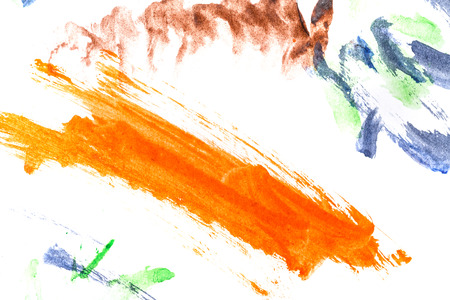 daub: Daub abstraction. Pattern watercolor. Childrens drawing. Design element. Brush marks.